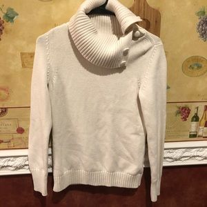 Banana Republic cream turtleneck sweater